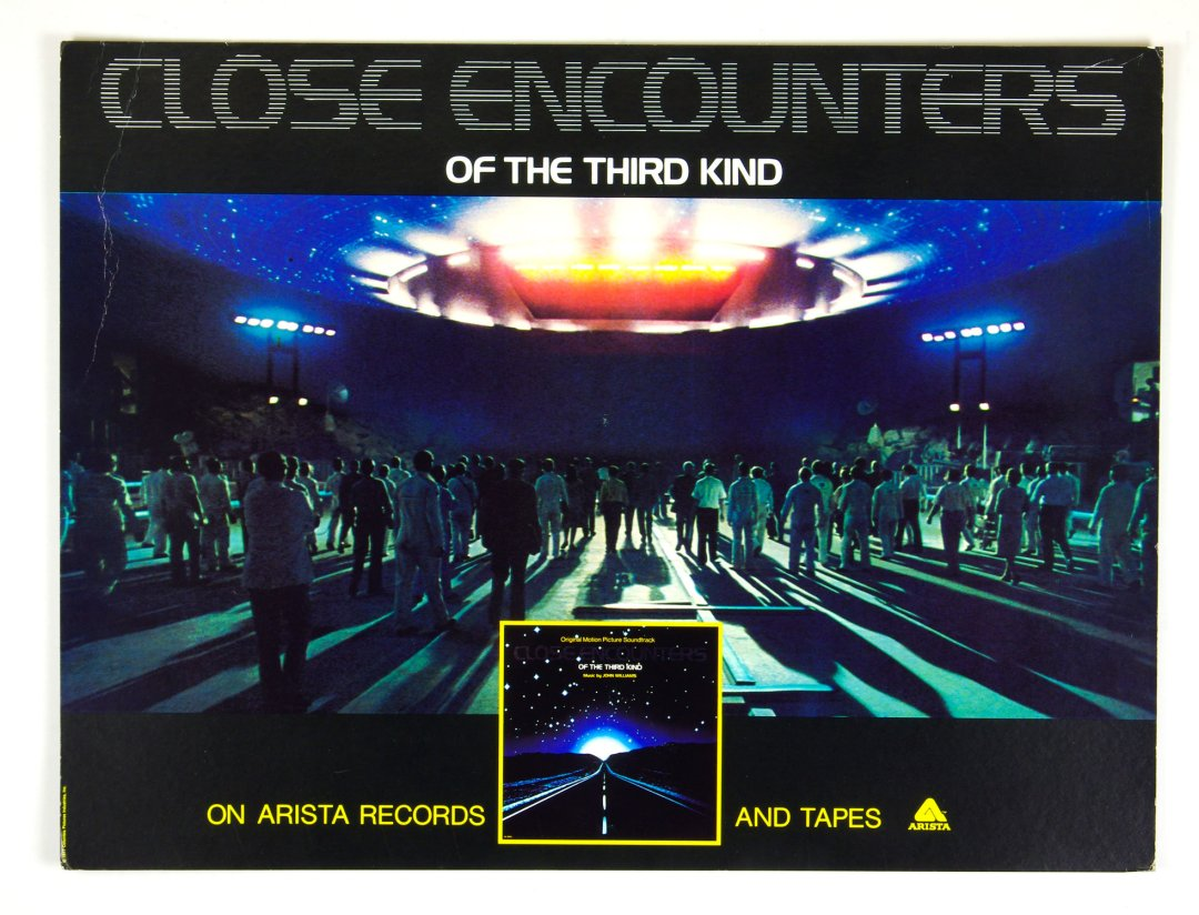 Close Encounters Of The Third Kind 1977 Cardboard Poster w/ Easel Back 22 x 29