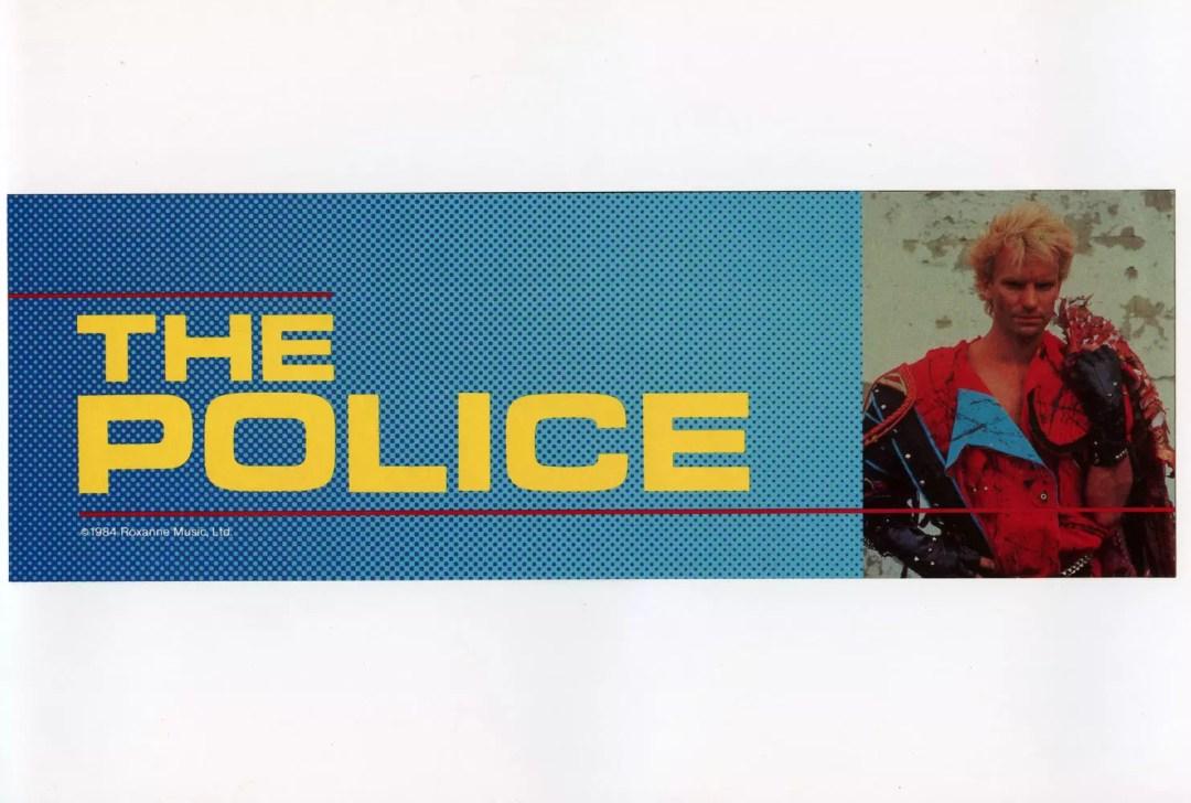 The Police Sticker 1983 Vintage