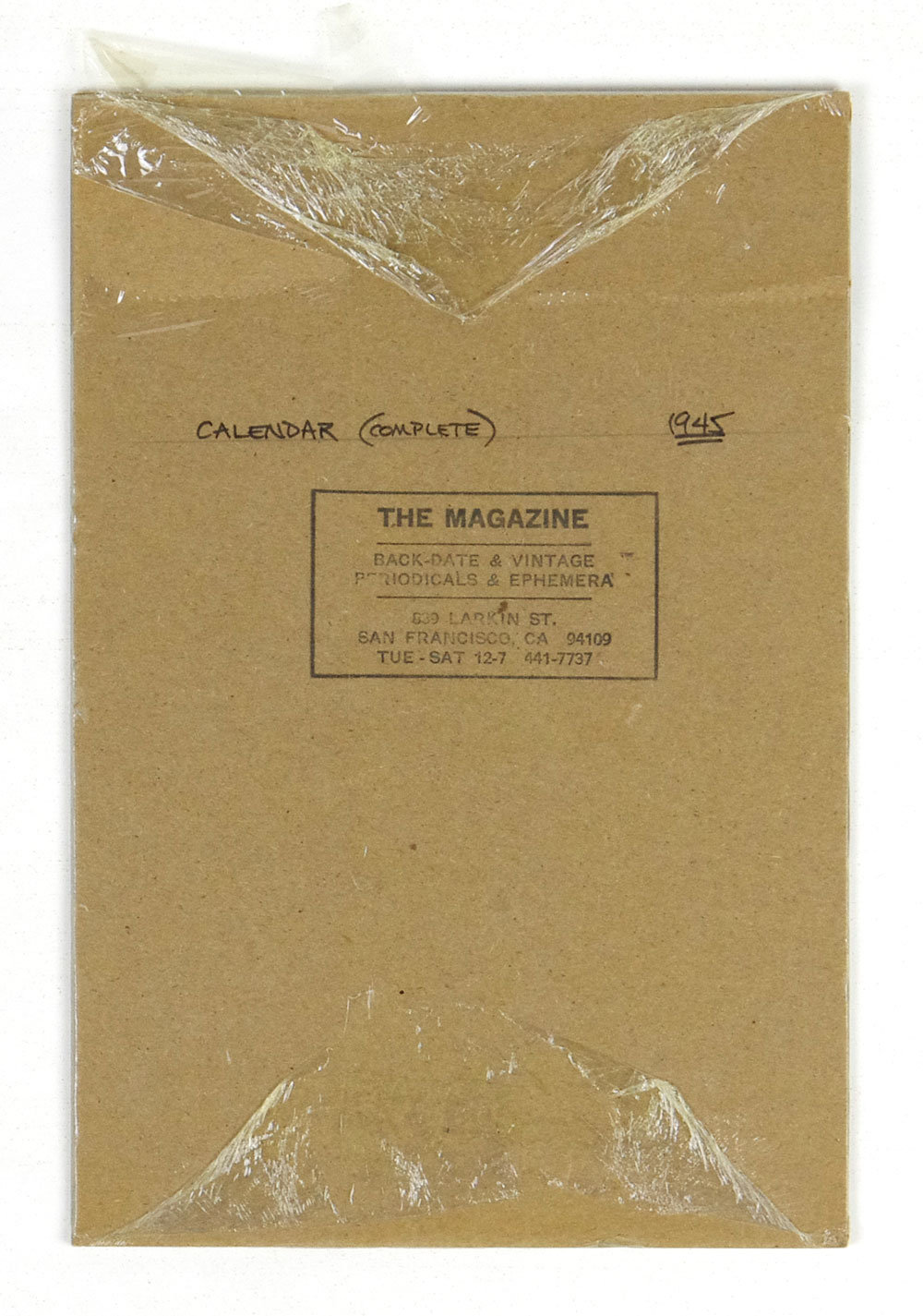 1945 Vintage Calendar Cecelia Margret Meagher Coronet Magazine Cover Girl