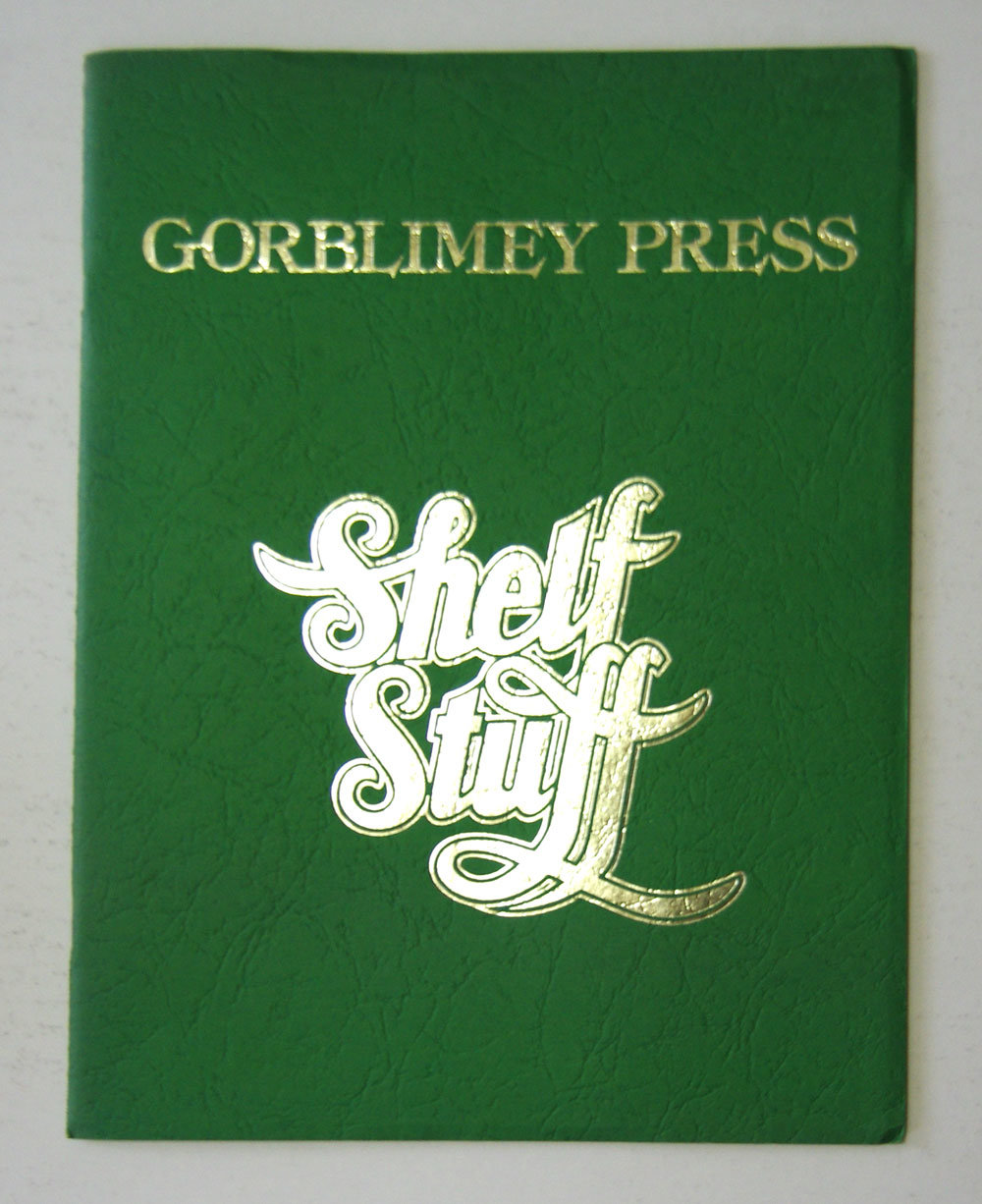 Barry Windsor Smith 1975 Gorblimey Press Shelf Stuff First Edition