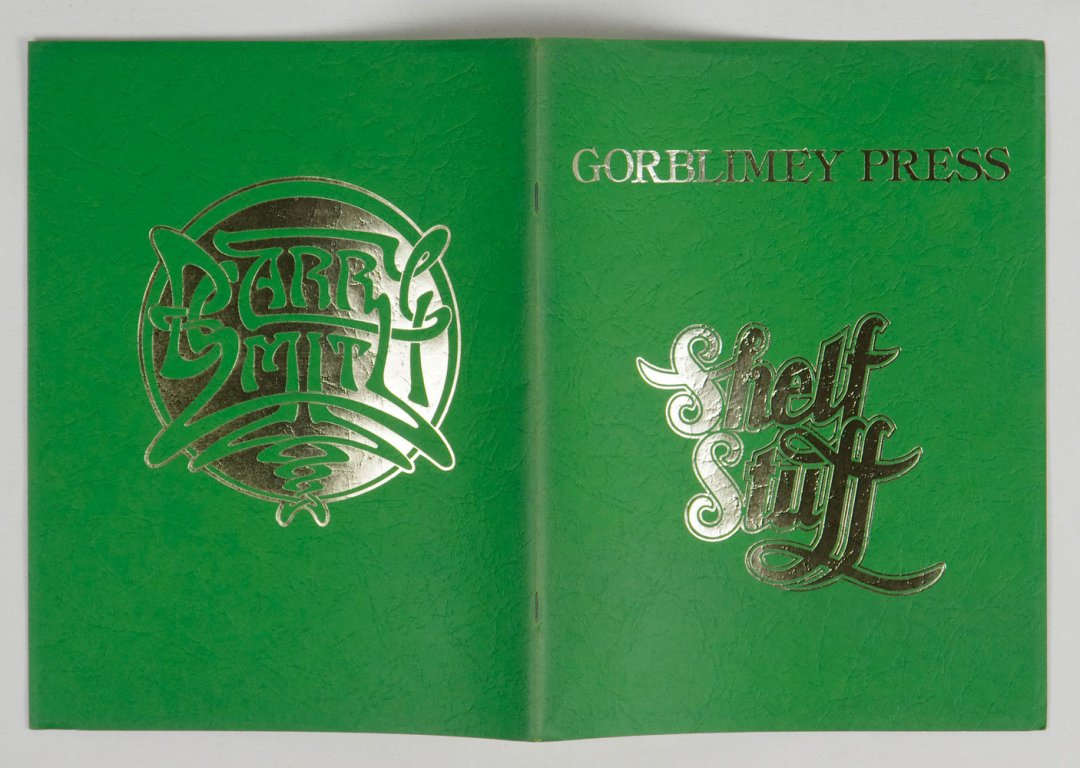 Barry Smith 1975 Shelf Stuff Gorblimey Press First Edition