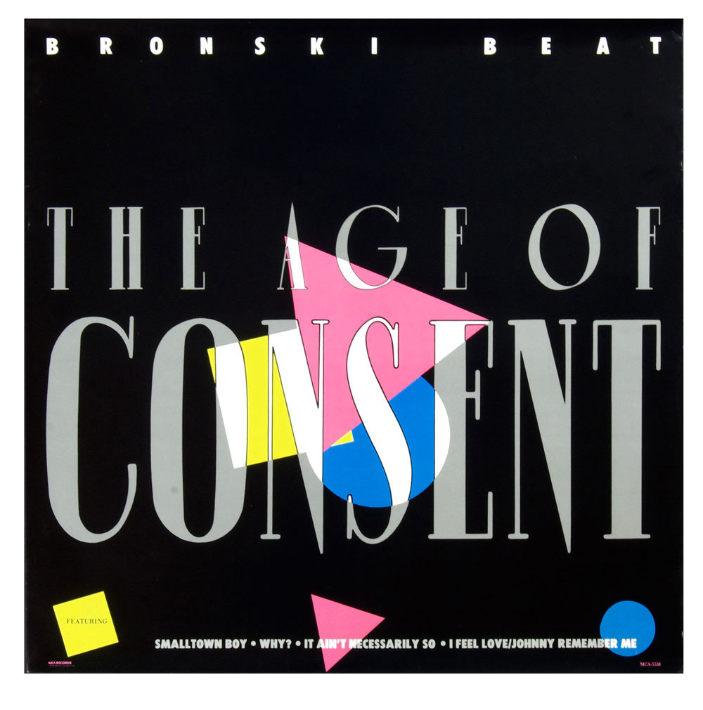 Bronski Beat Poster 1984 The Age of Consent Album Promotion
