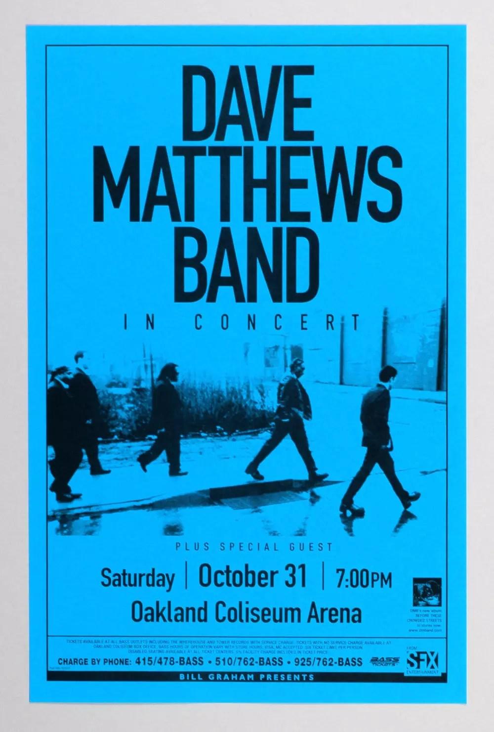 Dave Matthews Band  Poster 1998 Oct 31 Oakland Coliseum