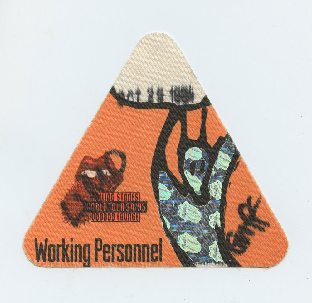 The Rolling Stones Backstage pass Voodoo Lounge World Tour 1994 - 95