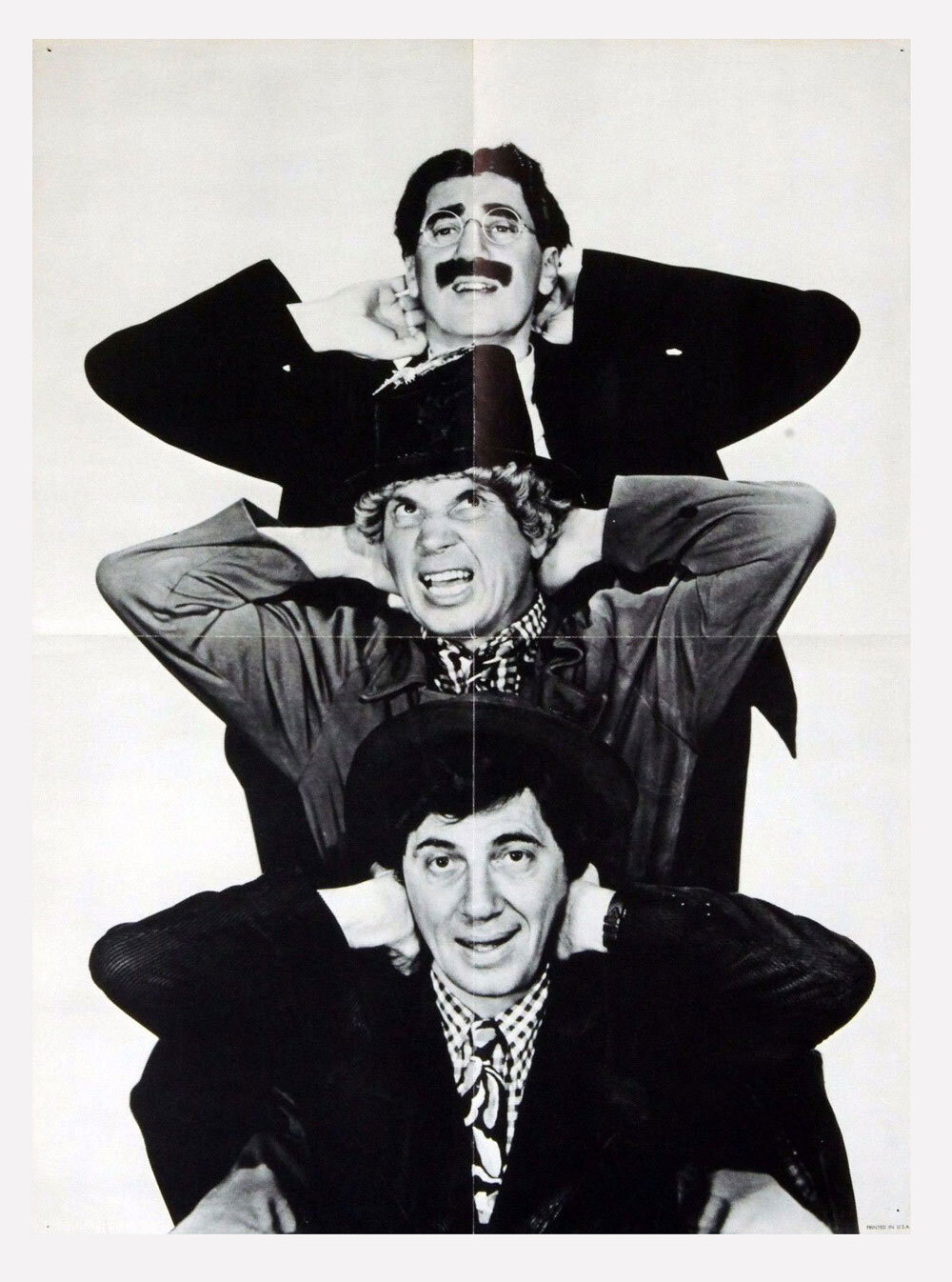 Marx Brothers Poster B/W Poster 18 x 24