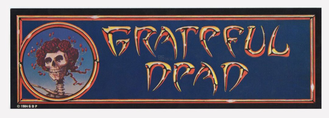 Grateful Dead Sticker 1984 vintage