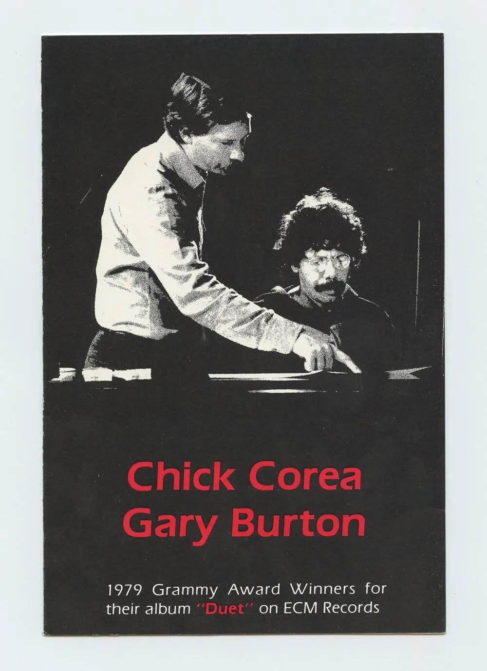 Chick Corea Gary Burton Handbill 1979 album DUET promo