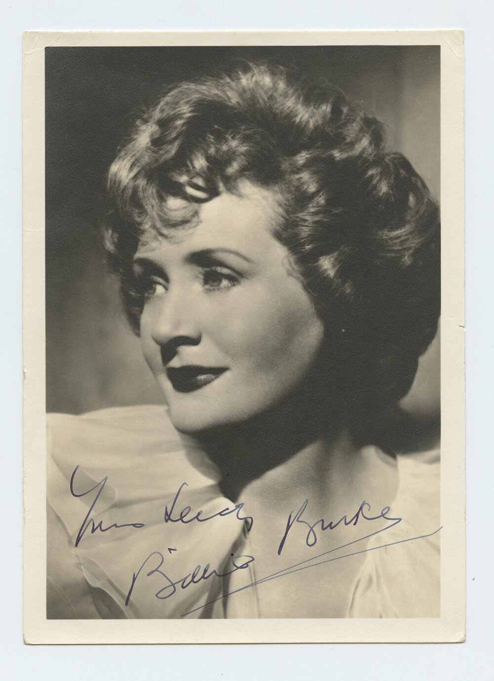 Billie Burke Photo 1940s Autographed Inscribed