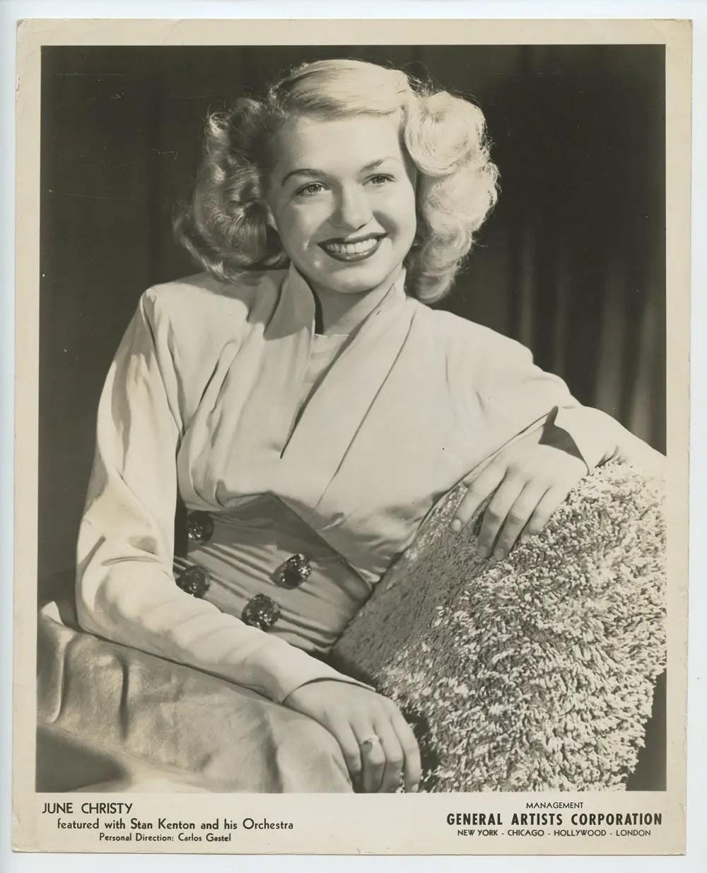 June Chirsty Photo 1950s Publicity Promo Original Vintage