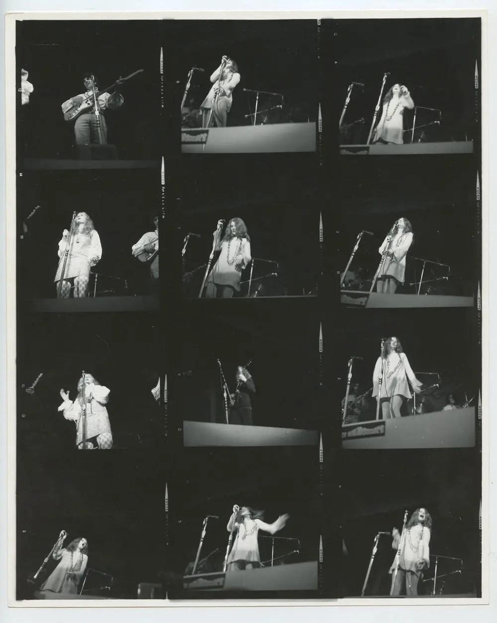 Janis Joplin Photo 1967 Jun 18 Monterey International Pop Music Festival Contact Sheet Original