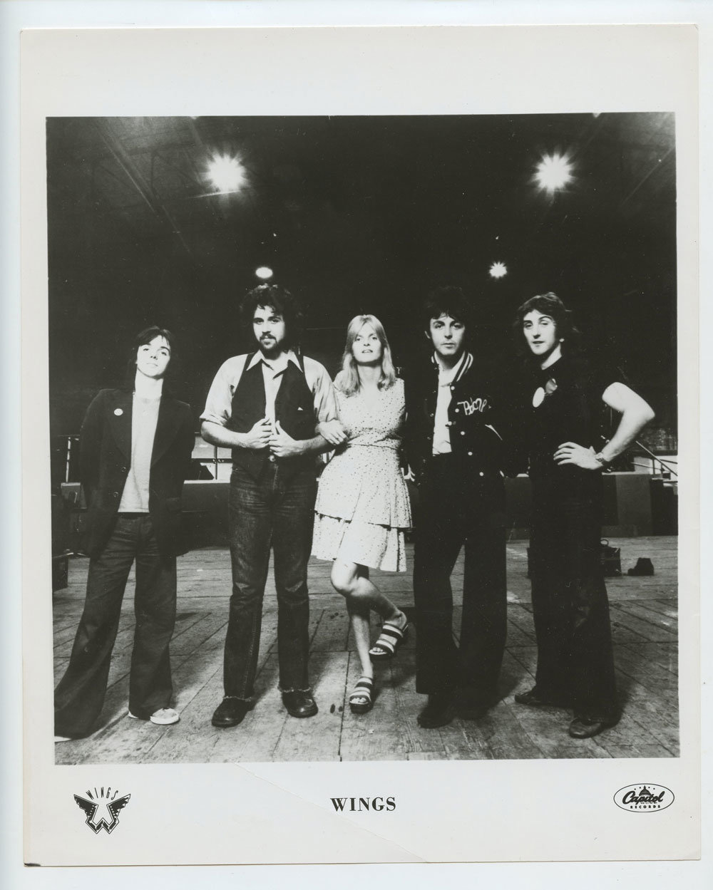 Paul McCartney and Wings Photo 1971 Publicity Promo Capital Records