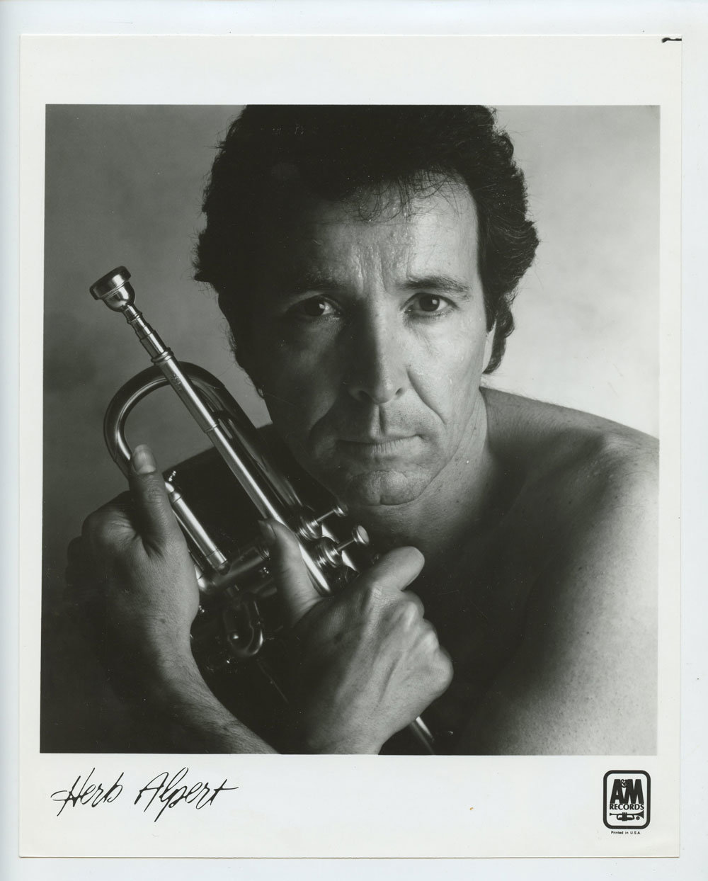 Herb Alpert Photo 1983 Blow Your Own Horn Publicity Promo