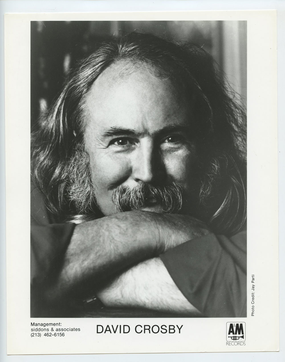 David Crosby Photo 1980s Publicity Promo A&M Records