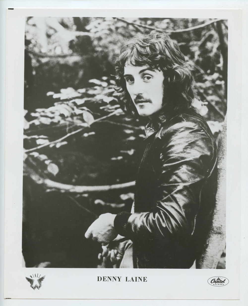 Denny Laine Photo 1971 Publicity Promo Capital Records