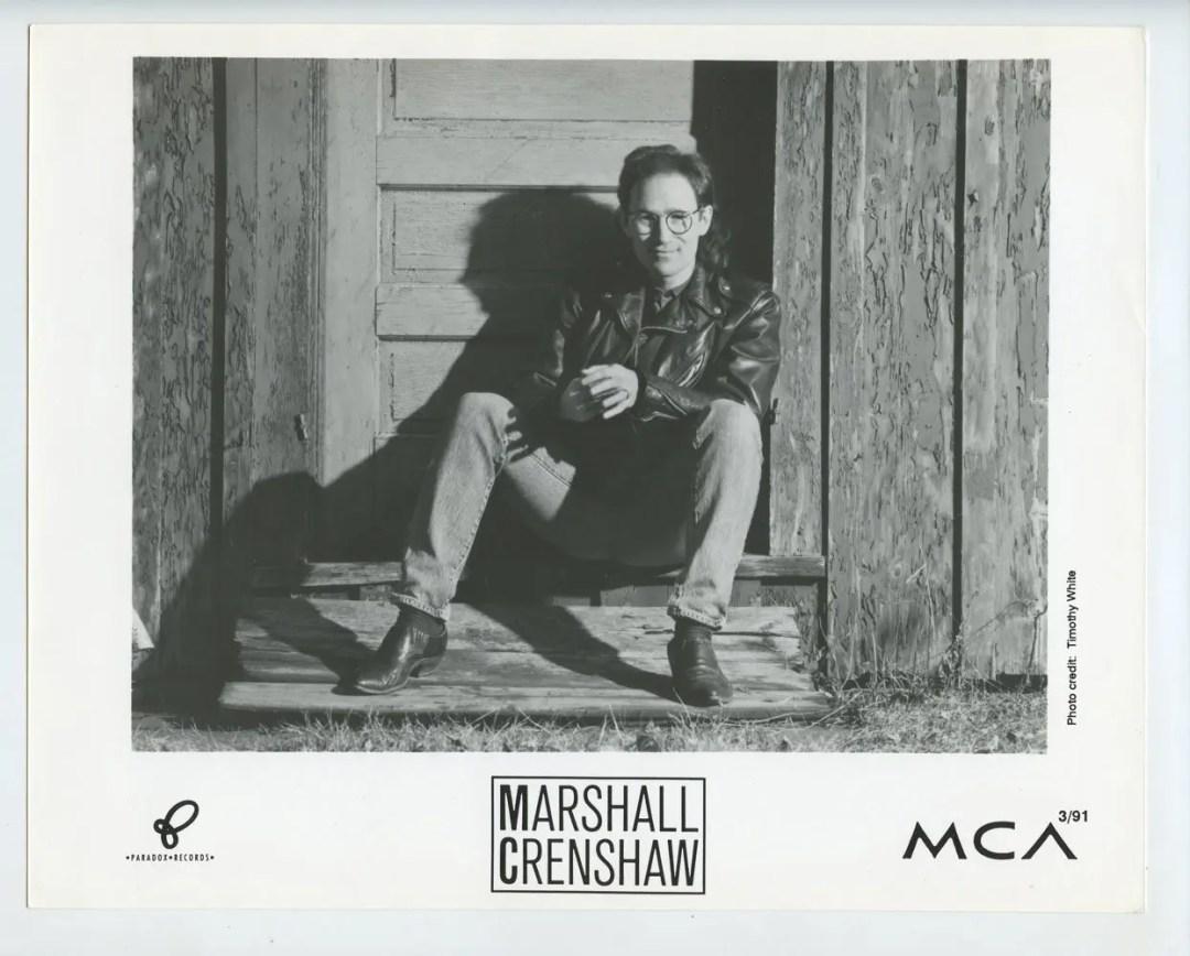 Marshall Crenshaw Photo 1991 Publicity Promo MCA Records