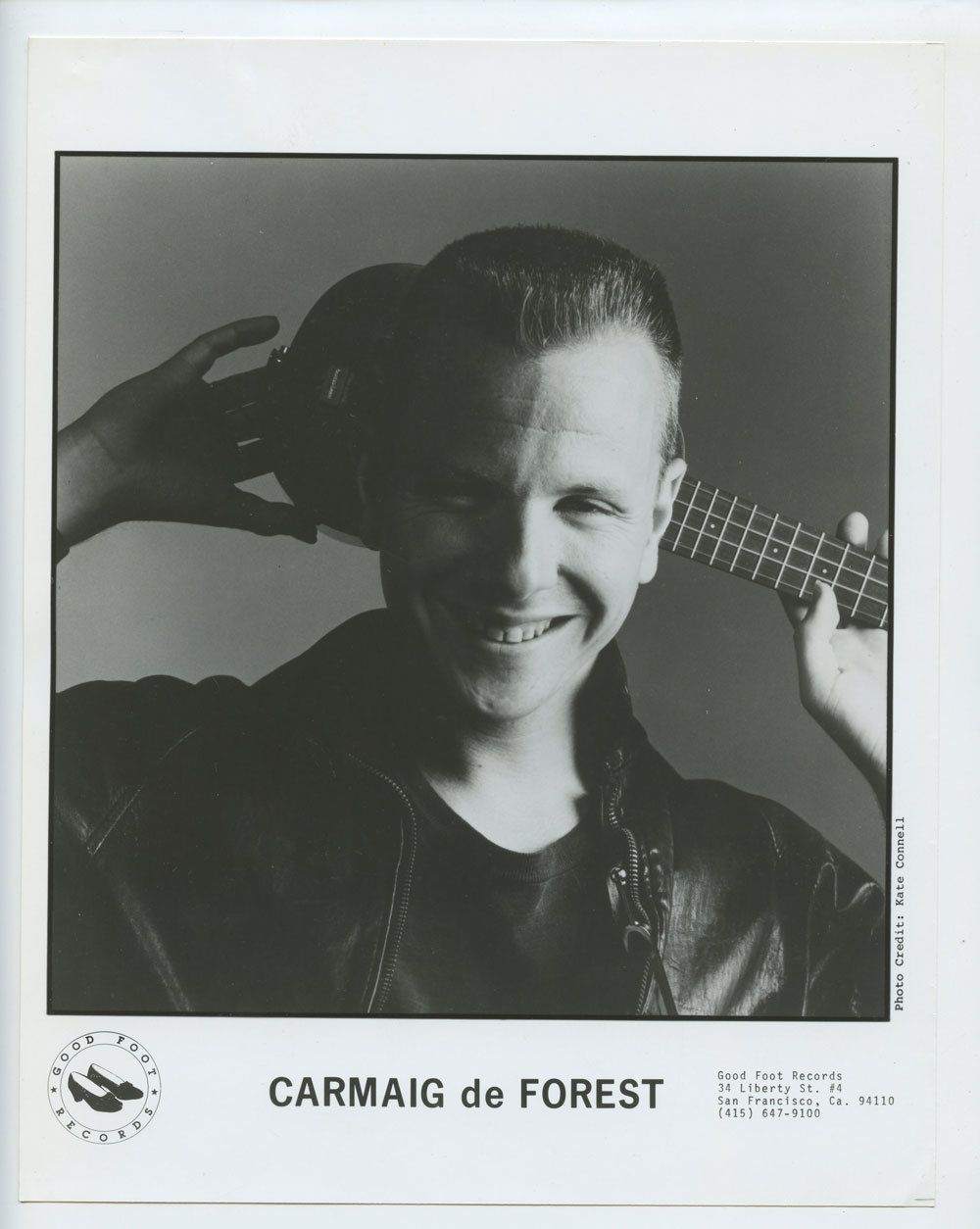 Carmaig de Forest Photo 1987 Publicity Promo Good Foot Records