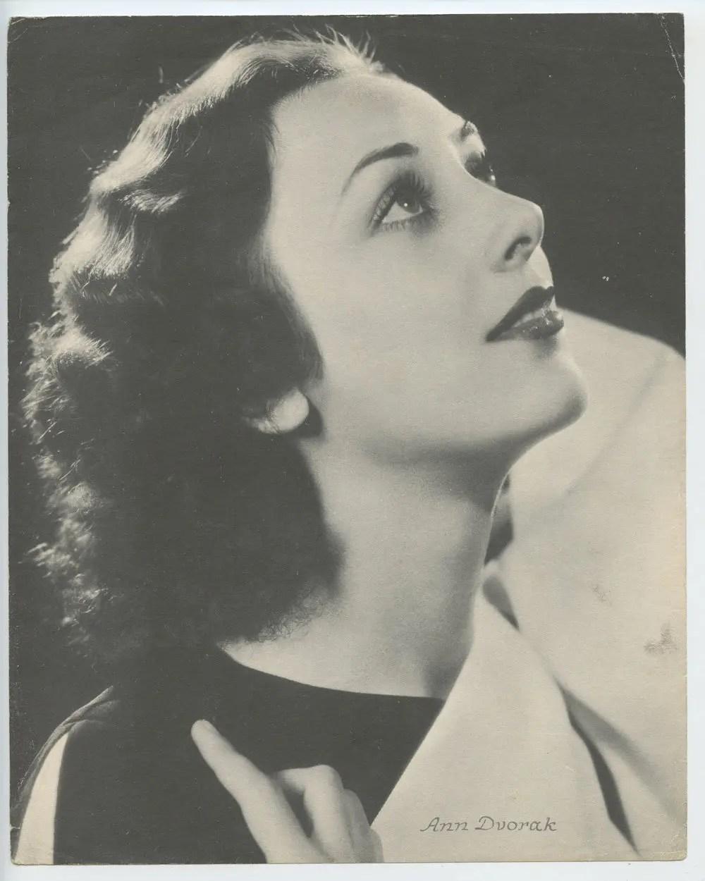 Ann Dvorak Photo Print 1930s Publicity Portrait