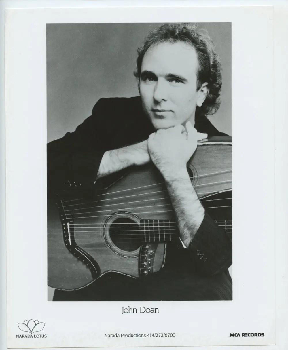 John Doan Photo 1985 Publicity Promo Narada Lotus Records