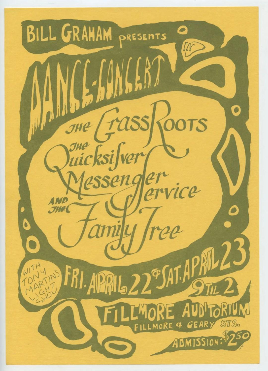 BG 0 Handbill Grass Roots 1966 Apr 22