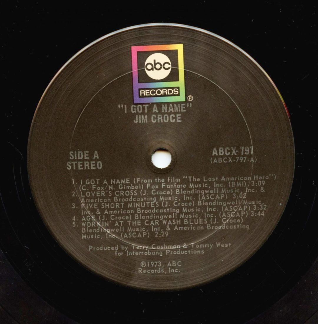 Jim Croce Vinyl I Got A Name 1973