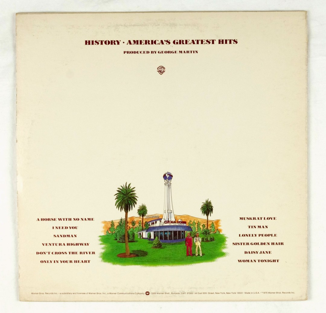 America Vinyl History America's Greatest Hits 1975