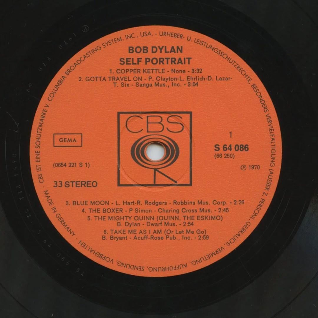 Bob Dylan Vinyl Self Portrait 1970