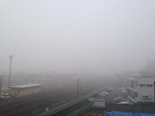 霧に包まれている大分県日田市♪