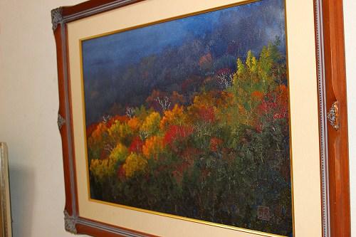 ひた押し花美術館に飾られていた絵画。きれいです!