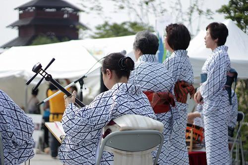 最後に、岡本流「彩の会」さんよる民謡演奏。