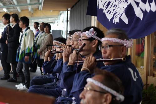 祇園囃子の演奏も披露されました。