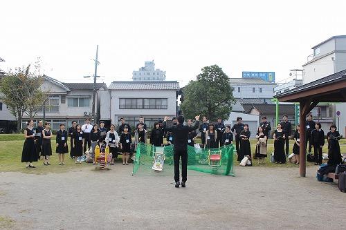 日田中央公園でボイス・チェック!