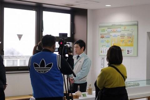 いいちこ日田蒸留所でのインタビュー
