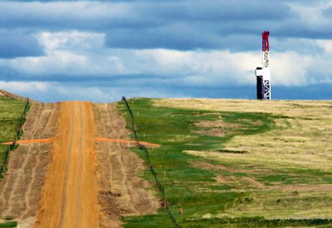 A rig site in North Dakota