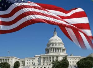 Senate Building with Flag