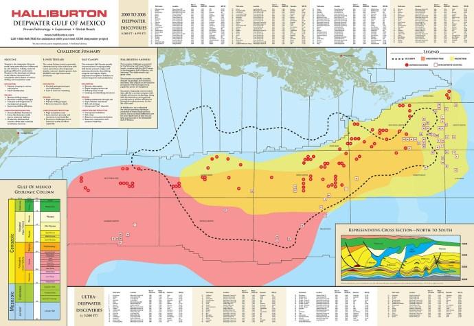 Halliburten GOM map