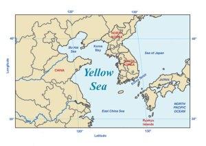 Bohai Sea Map NOAA