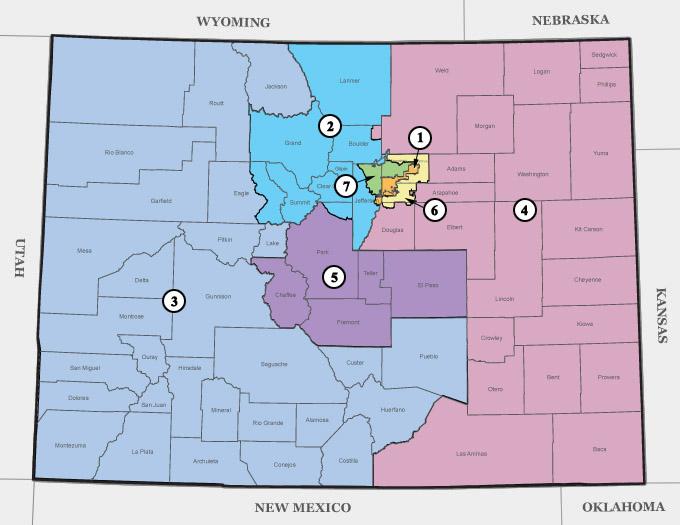 :  U.S. Congressman Ken Buck represents Colorado's Congressional District 4, all of eastern Colorado - Map: Colorado's Congressional Districts – CDE