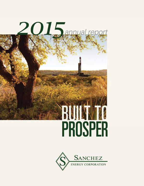 Sanchez Energy 2015 Annual Report Cover