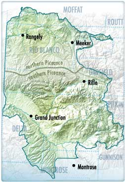 Piceance Basin map