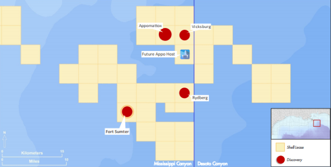Shell assets in the Gulf of Mexico