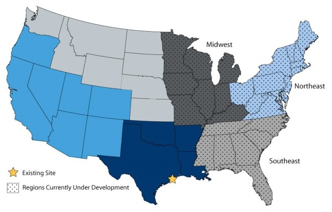 TopSail Asset Map