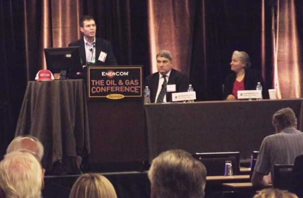 Fracs: Colorado School of Mines panel - The Next Stage in Shale Technologies panel at EnerCom's 2016 The Oil & Gas Conference (left to right): Mike Vincent, Will Fleckenstein, Ph.D., Jennifer Miskimins, Ph.D.