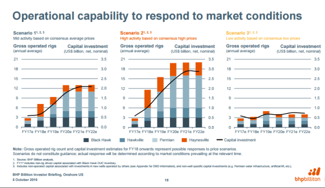 BHP Operational capability to respond to market conditions
