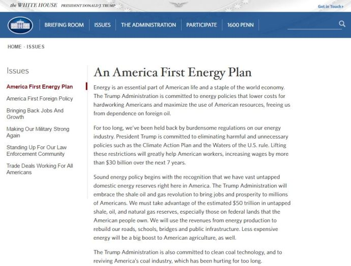 New White House Immediately Launches Energy Plan Embracing Shale Development