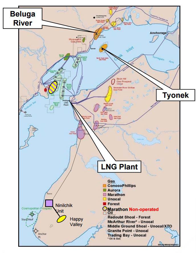 Alaska in Talks toPurchase ConocoPhillips' Nikiski Kenai LNG Facility