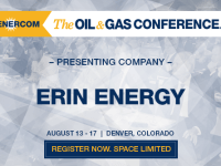 EnerCom's 2017 Conference Day Three Breakout Notes: Erin Energy