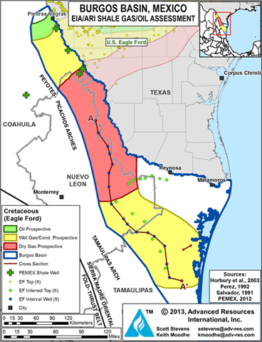 Mexico Looks To Replicate US Shale Success Oil Gas - Us shale oil map