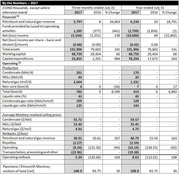 Blackbird Energy Inc. (TSX-V: BBI) 2017 Year End Results