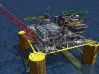 Shell rendering of its Vito deep-water development in the U.S. Gulf of Mexico. Vito will feature a new, simplified host design and associated infrastructure. (PRNewsfoto/Shell Offshore Inc.)