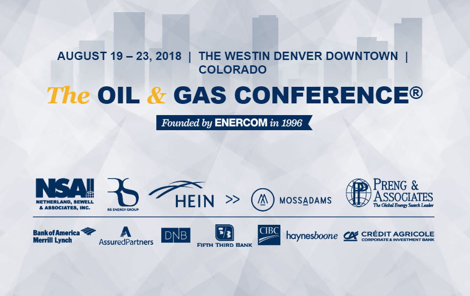 Enercoms The Oil Gas Conference Coming To Denver Aug 19 22